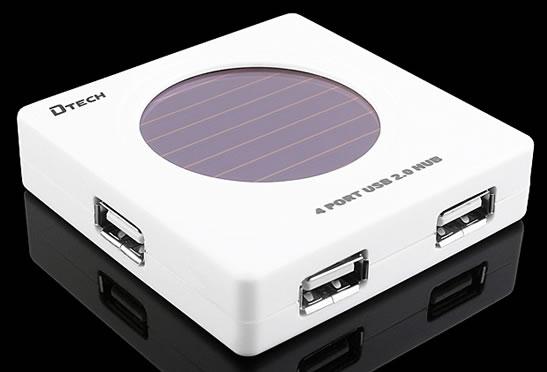 Solcellsdriven USB-hub