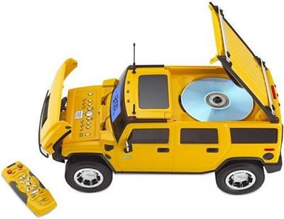 Hummer klockradio med CD-spelare