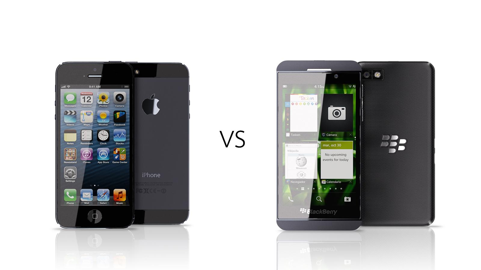 BlackBerry Z10 VS iPhone