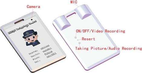 ID-kort med spionkamera