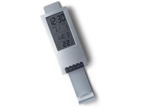 Klädhängare med klocka och termometer