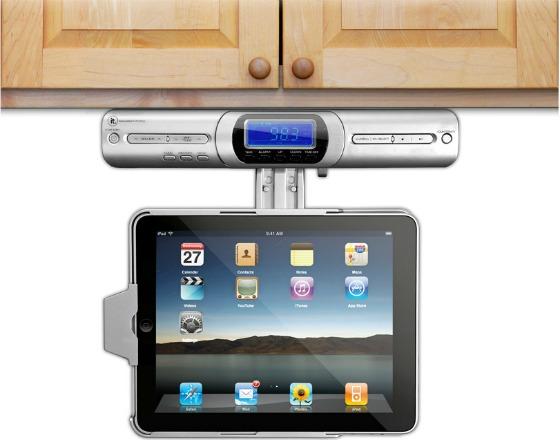 Hängande iPad-docka för köket