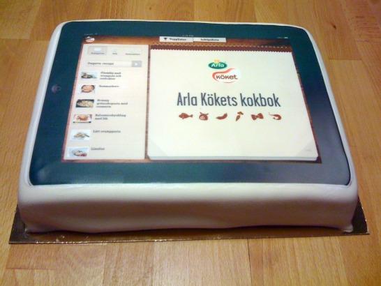 iPad-tårta