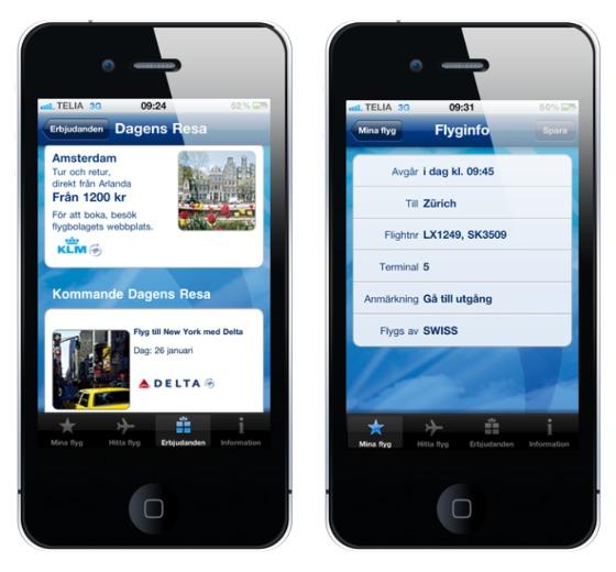 iPhone-app Arlanda flygplats