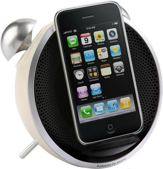 iPhone-docka som ser ut som en väckarklocka