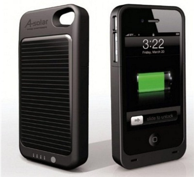 iPhone-fodral med solladdare
