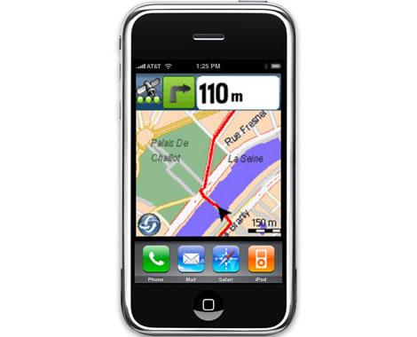 iPhone med Wayfinder