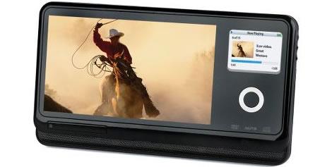 Bärbar DVD-spelare med iPod-integrering