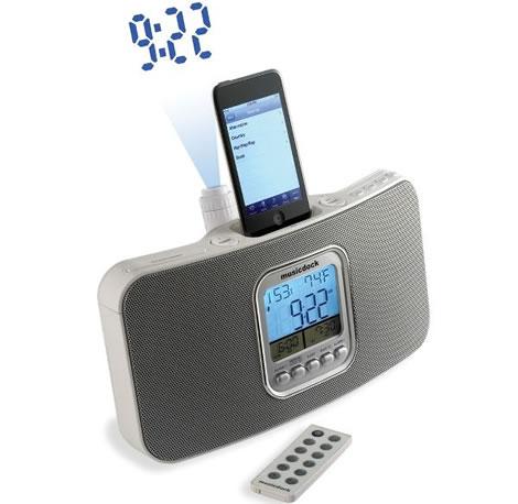 iPod-docka med radio och projektorklocka