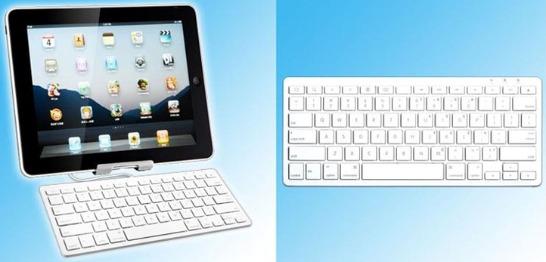 Tangentbord med stativ för iPad och iPhone