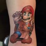 Jedi Mario – cool tatuering