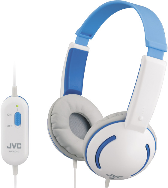 JVC hörlurar för barn (blå)