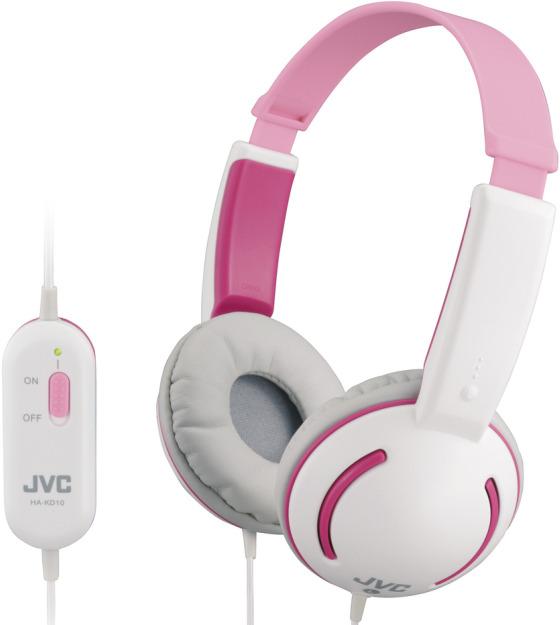 JVC hörlurar för barn (rosa)