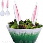 En kanin i salladsskålen