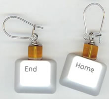 Keyboard Key Earrings