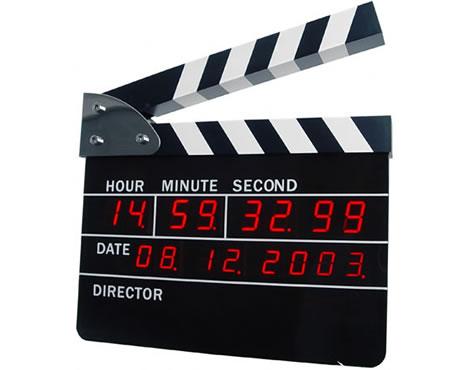 Filmklappa som väckarklocka