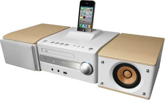 Kompaktsystem med iPhone-docka från JVC