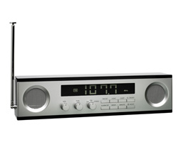 Long clock-radio LCD