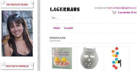 Lagerhaus-butik hos Designtjejen