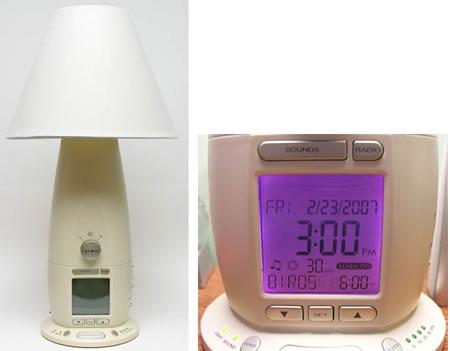 Sänglampa med klockradio