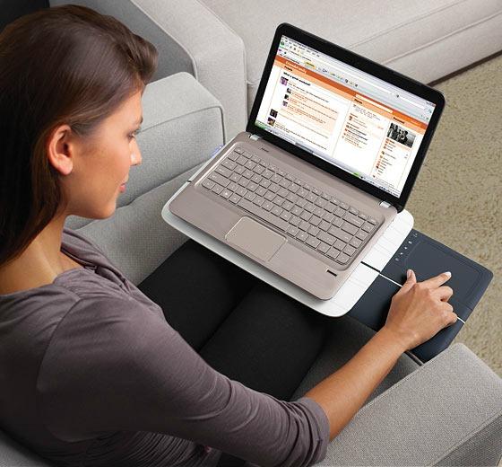 Laptopstöd med stryplatta