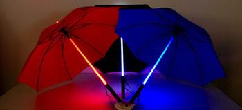 Lasersvärdsparaplyer
