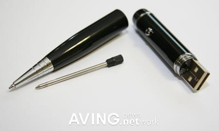 Bläckpenna med USB-minne och laserpekare
