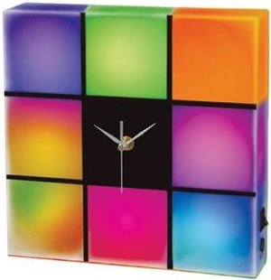 Färgglad klocka