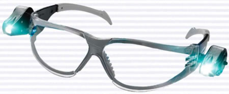 Skyddsglasögon med lysdioder