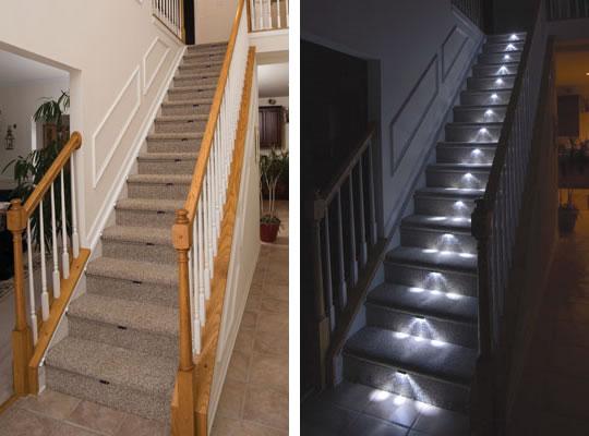 LED-belysning för trappa