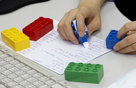 Korrekturpenna i Lego-stil