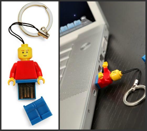 Lego-gubbe som USB-minne