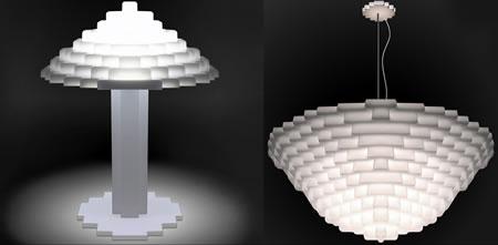 Lego-lampor