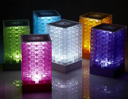 Miniversion av lampan i Lego-stil