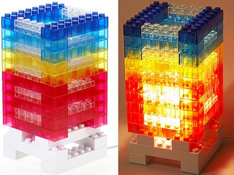Lampa i Lego-stil