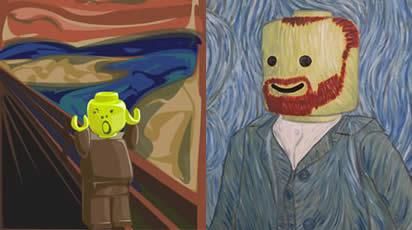 Lego-målningar