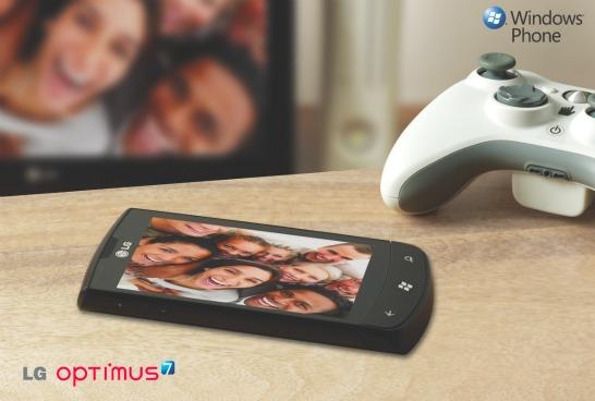 LG Optimus 7 med Windows Mobile 7 Mango
