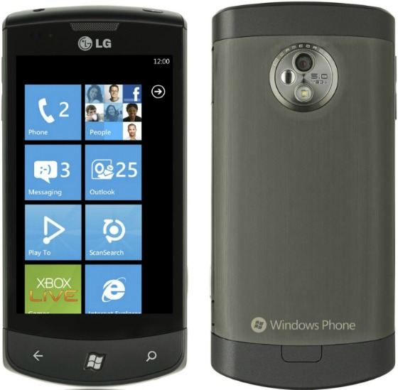 LG Optimus 7 med Windows Mobile 7 Mango
