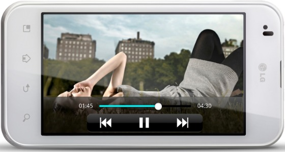 LG Optimus Black mobiltelefon