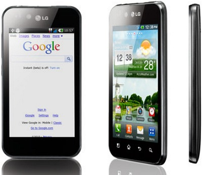 LG Optimus Black mobiltelefon