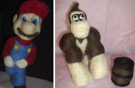 Mario i nålfilt