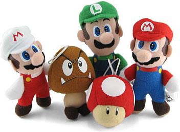 Super Mario mjukisfigurer