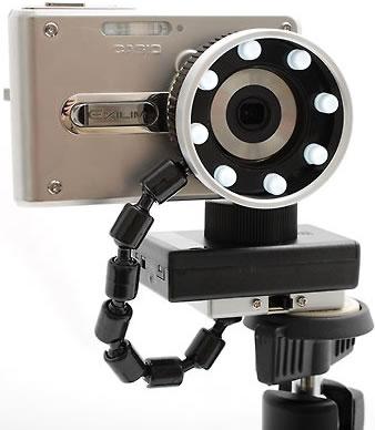 Ring med lysdioder för digitalkameror