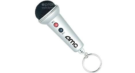 Diktafon som minimikrofon i nyckelring