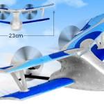 Mini Bi-Plane – radiostyrt miniflygplan