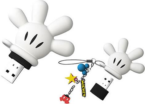 Musse Piggs handske som USB-minne