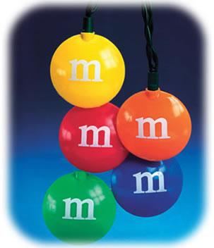 M&M-julgransbelysning