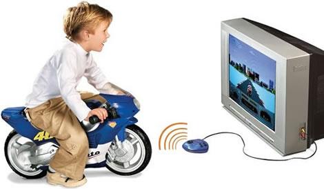 Interaktivt motorcykelspel för barn