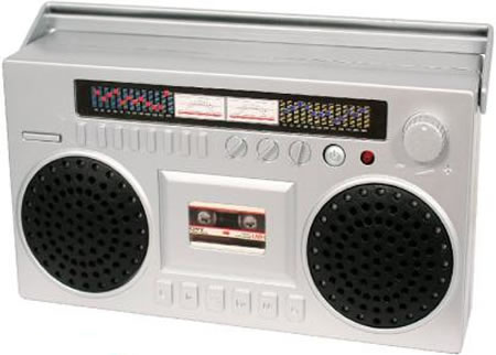 Bergsprängare som mp3-högtalare