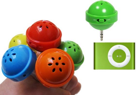 Färgglada små mp3-högtalare